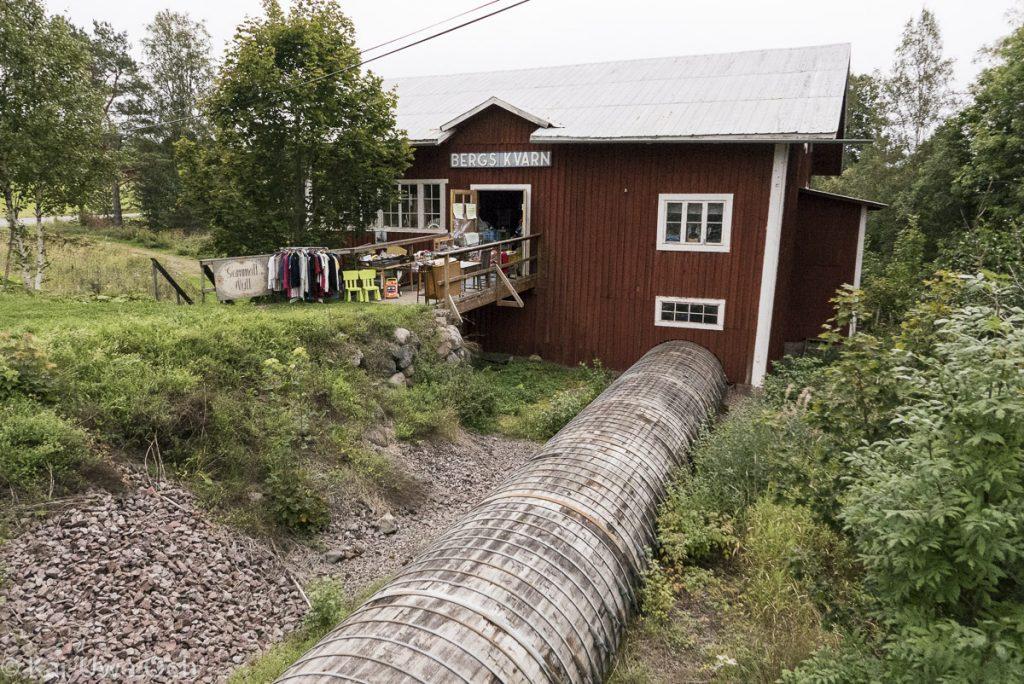 Fast noch betriebsbereit - die Mühle Bergs Kvarn